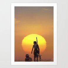Rey of Sun Art Print