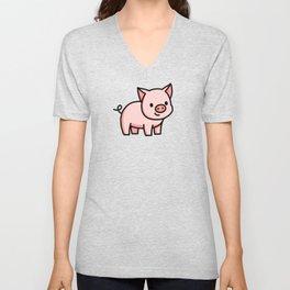Pig Unisex V-Neck