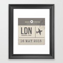 Travel Tag Natural Framed Art Print