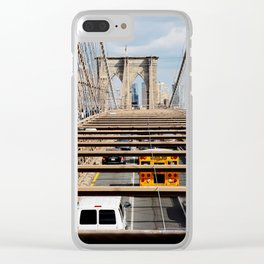 new york city ... brooklyn bridge V Clear iPhone Case