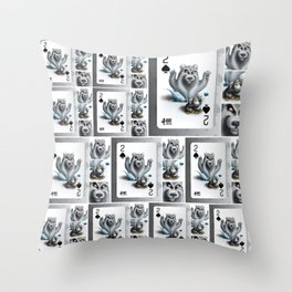 Two of Spades / No selfies! Throw Pillow