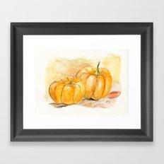 Mini Pumpkins II Framed Art Print