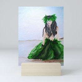 hula girl Mini Art Print