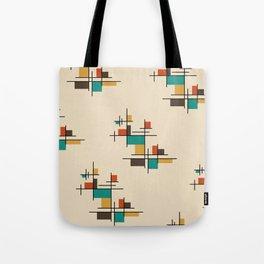 Mid Century Modern Geometric Colorful Tote Bag