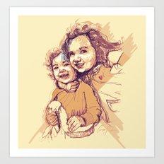Digital Drawing #29 - Gia and Teo Art Print