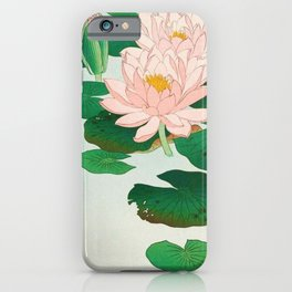 Flowering Water Lily Ohara Koson iPhone Case