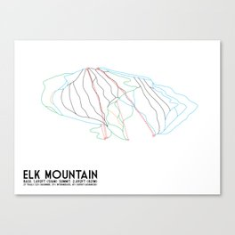 Elk Mountain, PA - Minimalist Winter Trail Art Canvas Print