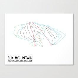 Elk Mountain, PA - Minimalist Winter Trail Art Canvas Print