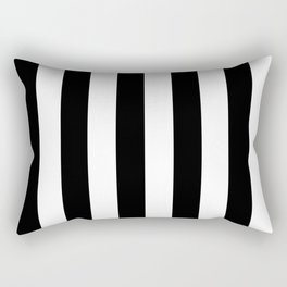 Black & White Vertical Stripes - Mix & Match with Simplicity of Life Rectangular Pillow
