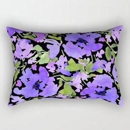 Periwinkle Bouquet Rectangular Pillow
