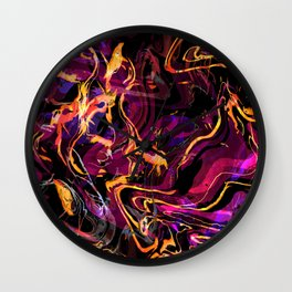 Fluid Abstract 40; Emotional Outburst Wall Clock