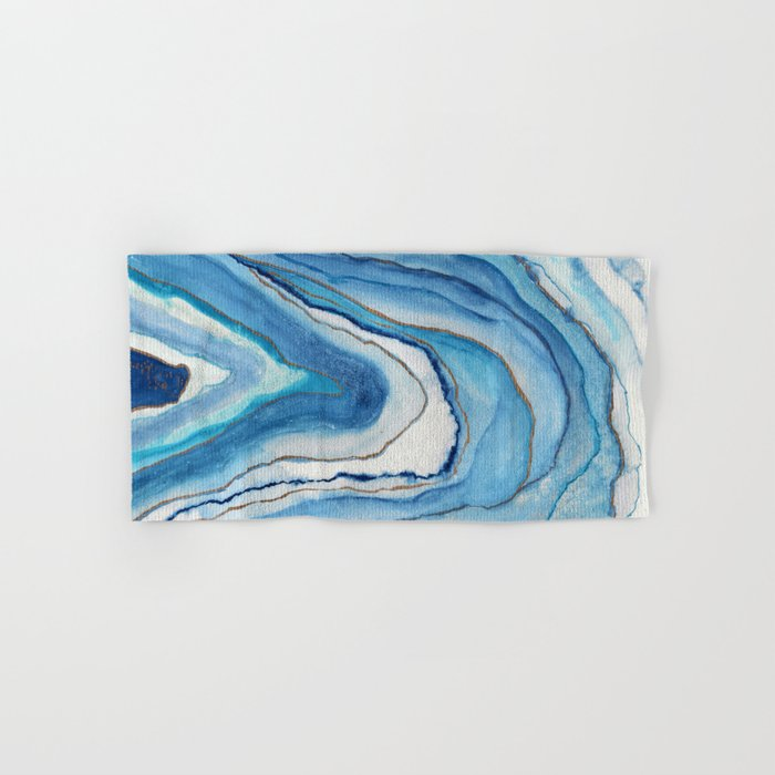 AGATE Inspired Watercolor Abstract 02 Hand & Bath Towel