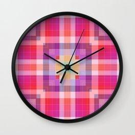 Bright Pink Geometric Wall Clock