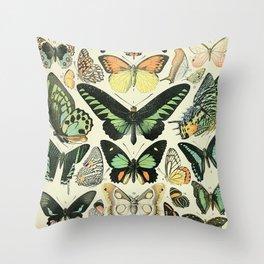 Adolphe Millot Papillons Throw Pillow