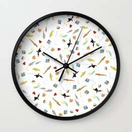 The Life Aquatic with Steve Zissou: Repeat Pattern Wall Clock
