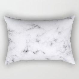 Ghost White Marble Rectangular Pillow