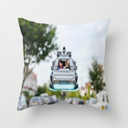 Back to the Lego Throw Pillow