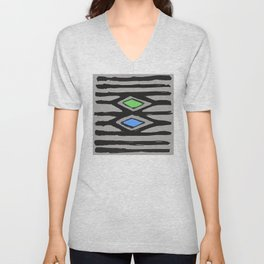 Primitive Graphic Design With Contemporary Update Unisex V-Neck