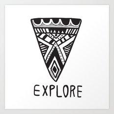Explore Mindset Art Print