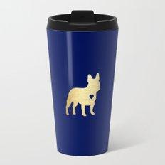 French Bulldog Gold Travel Mug
