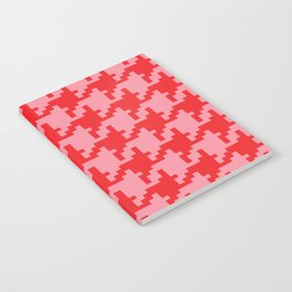 Houndstooth - Pink & Red Notebook