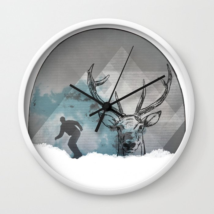 Cool Snowboarding Pattern Wall Clock By Iuliartvision Society6
