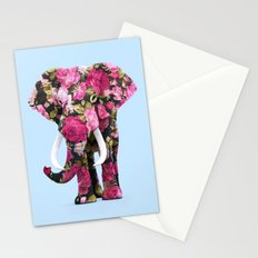 FLORAL ELPHANT Stationery Cards