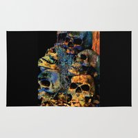 skulls Area & Throw Rugs featuring Skulls By Annie Zeno by Annie Zeno