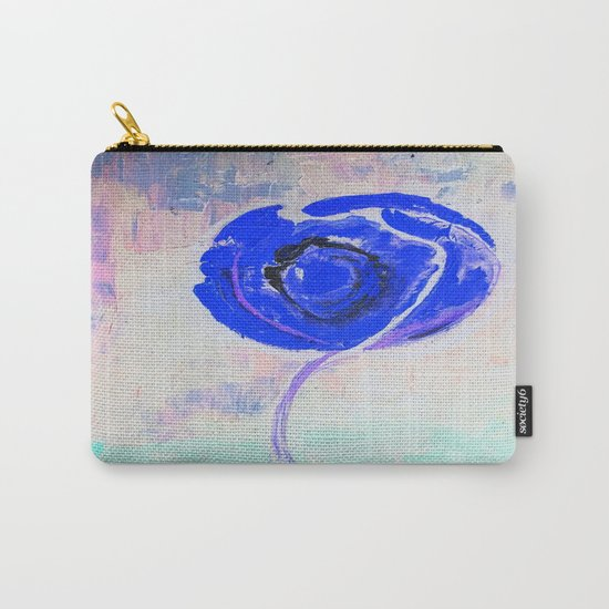 Snow Honey Silver Ice Blue Rose Carry-All Pouch