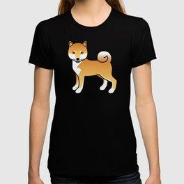 Red Shiba Inu Cute Cartoon Dog T-shirt