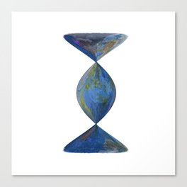 Earth is a sandglass Canvas Print
