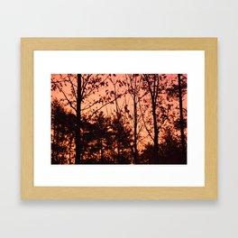 Sunrise in late Fall Framed Art Print
