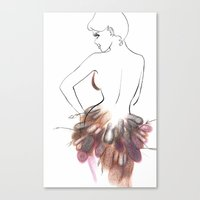 chic Canvas Prints featuring Chic by Sarah Soh