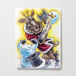 Krampus has a Snow Day Metal Print
