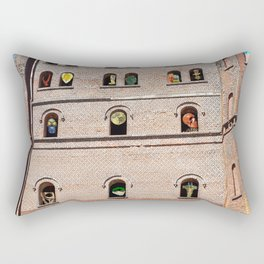 Crazy Industrial Arthouse Vernissage Rectangular Pillow