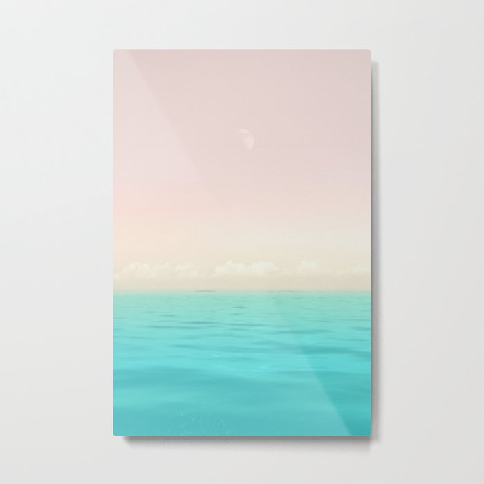 Sunset Sea Metal Print