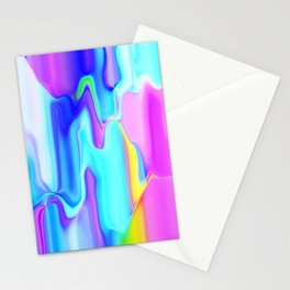 Dripping Paint 3 Stationery Cards
