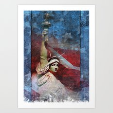 Statue of Liberty Patriotic Poster Art Print