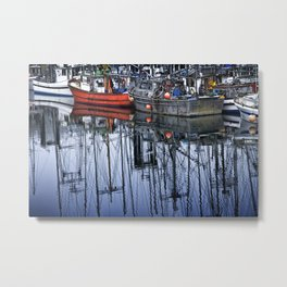 Boats in a Harbor on Vancouver Island in British Columbia Metal Print