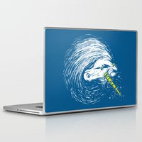 unicorns Laptop & iPad Skins featuring Scar Unicorns by Steven Toang