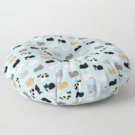 Cat Loaf Print Floor Pillow