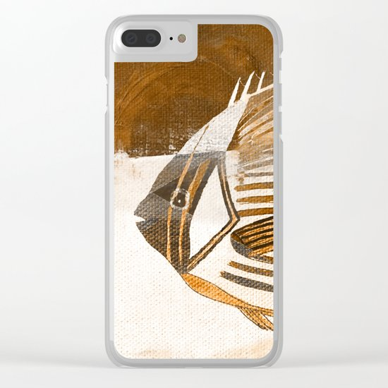 Fish in Coffee Grounds Clear iPhone Case