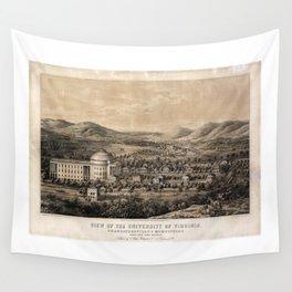 University of Virginia, Charlottesville & Monticello (1856) Wall Tapestry