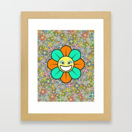 SUPER FLOWER POWER Framed Art Print