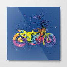 ap127-2 Motorcycle Metal Print