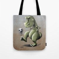 football Tote Bags featuring Football! by Allan McInnes