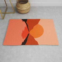 Abstraction_Sunset_Mountains_001 Rug