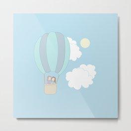 Rumbelle Balloon Flight Metal Print
