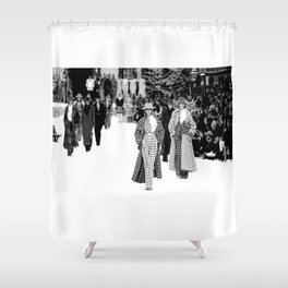iconic karl looks black and white Shower Curtain
