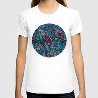 garden T-shirts featuring Tropical Ink - a watercolor garden by micklyn